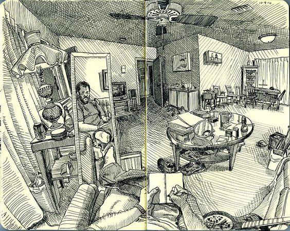 iç mekan çizim ev imgesel çizim