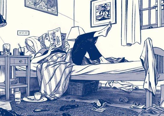 kız yatak odası iç mekan çizim ev imgesel çizim