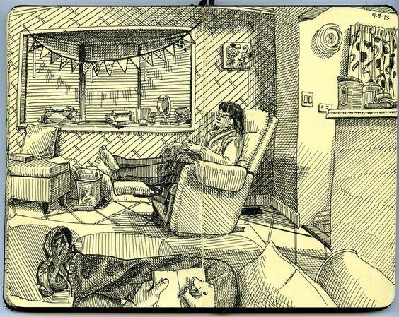 imgesel çizim ev içi